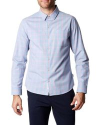 7 Diamonds - Blue All You Know Plaid Shirt for Men - Lyst