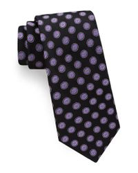 Ted Baker - Black Lifesaver Medallion Silk Tie for Men - Lyst