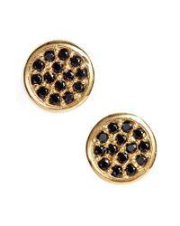 Argento Vivo Metallic Pave Stud Earrings