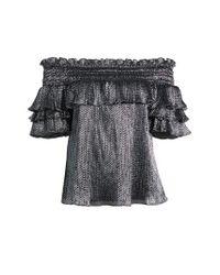 Parker - Black Greta Silk Blouse - Lyst