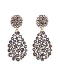 Oscar de la Renta - Black Teardrop Earrings - Lyst