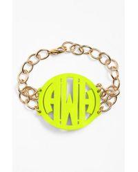 Moon & Lola - Metallic 'annabel' Large Personalized Monogram Bracelet - Lyst