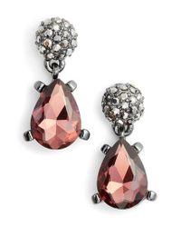 Badgley Mischka - Multicolor Jewel Drop Earrings - Lyst