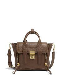 3.1 Phillip Lim | Brown 'mini Pashli' Leather Satchel | Lyst