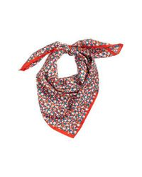 Tory Burch - Red Carnation Silk Square Scarf - Lyst