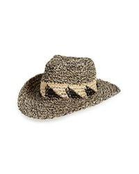 Caslon - Multicolor Caslon Marled Straw Cowboy Hat - - Lyst