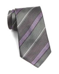 John Varvatos   Gray John Varvatos Star Usa Stripe Silk Tie for Men   Lyst