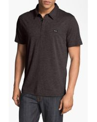 RVCA | Gray 'sure Thing' Polo for Men | Lyst