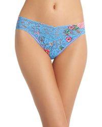 Hanky Panky - Blue Print V-kini Bikini - Lyst