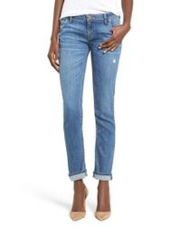 Hudson - Blue 'jax' Slim Boyfriend Jeans - Lyst