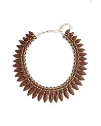 Kendra Scott - Brown Lazarus Collar Necklace - Lyst
