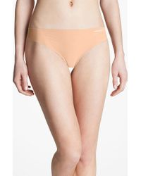 Calvin Klein | Brown 'invisibles' Thong | Lyst