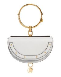 Chloé - Metallic Small Nile Bracelet Calfskin Leather Minaudiere - Lyst