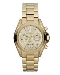 MICHAEL Michael Kors | Metallic Michael Kors 'bradshaw - Mini' Chronograph Bracelet Watch | Lyst