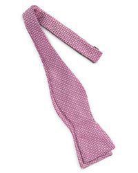 Calibrate - Pink Textured Silk Bow Tie for Men - Lyst