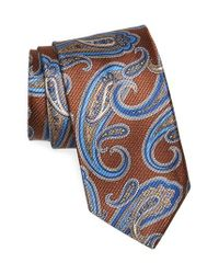 David Donahue | Brown Paisley Silk Tie for Men | Lyst