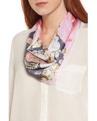 Ted Baker - Gray Blenheim Jewels Diamond Silk Scarf - Lyst