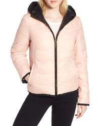Kate Spade - Natural Reversible Quilted Down Jacket - Lyst