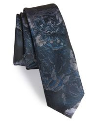 Topman - Blue Floral Tie for Men - Lyst
