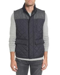 Vince Camuto - Black Quilted Vest for Men - Lyst