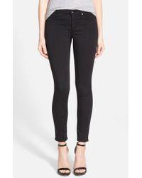 AG Jeans - Legging Ankle Super Skinny Jeans In Coated Black - Lyst