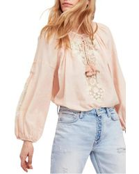 Free People Multicolor Shimla Embroidered Blouse