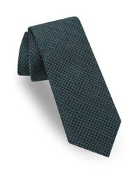 Ted Baker   Green Geometric Silk Tie for Men   Lyst