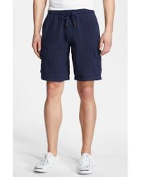 Vilebrequin - Blue Linen Bermuda Cargo Shorts for Men - Lyst