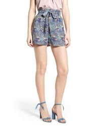 BISHOP AND YOUNG - Blue Bishop + Young Floral Paperbag Shorts - Lyst