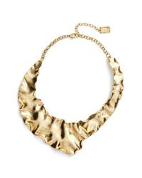 Karine Sultan - Metallic Gold Plate Collar Necklace - Lyst