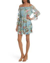Alice + Olivia - Blue Short Dresses - Lyst