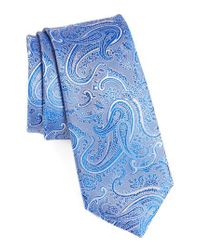 Calibrate | Blue Floating Paisley Silk Tie for Men | Lyst