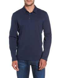 Tommy Bahama | Black 'portside Player Spectator' Long Sleeve Jersey Polo for Men | Lyst