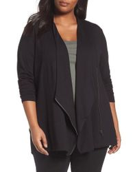 NIC+ZOE - Black Studio Asymmetrical Zip Jacket - Lyst