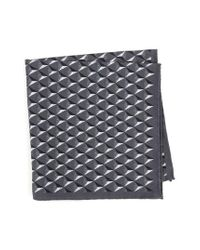 Ted Baker - Gray Geometric Silk Pocket Square for Men - Lyst