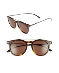 Ferragamo | Blue 51mm Sunglasses - Havana | Lyst