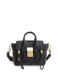 3.1 Phillip Lim - Black Nano Pashli Leather Satchel - Lyst