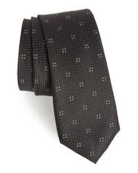 Calibrate | Black Classic Neat Silk Tie for Men | Lyst