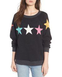 Wildfox - Black Arcade Stars Sommers Sweatshirt - Lyst
