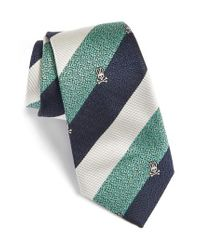 Psycho Bunny | Green Wide Stripe Silk Tie for Men | Lyst