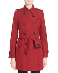 Burberry - Gray London 'kensington' Double Breasted Trench Coat - Lyst