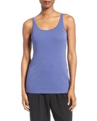 Eileen Fisher - Blue Long Scoop Neck Camisole - Lyst