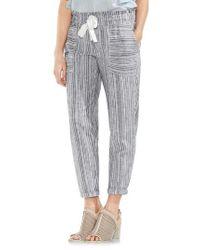 Vince Camuto - Multicolor Slim Drawstring Stripe Pants - Lyst