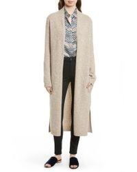 Equipment | Natural Thoren Long Wool Cardigan | Lyst