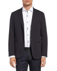 Stone Rose - Black Knit Unconstructed Blazer for Men - Lyst