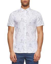 Tavik White Bowery Short Sleeve Shirt for men