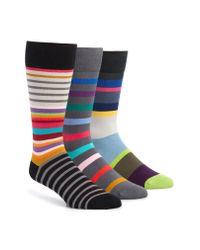 Paul Smith - Blue 3-pack Stripe Socks for Men - Lyst