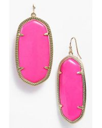 Kendra Scott | Purple Danielle - Large Oval Statement Earrings | Lyst