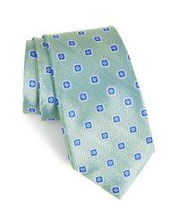 Nordstrom - Blue Herringbone Silk Tie for Men - Lyst