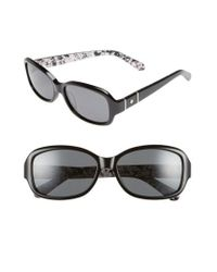 Kate Spade   Cheyenne 55mm Polarized Sunglasses - Havana/ Brown Polar   Lyst
